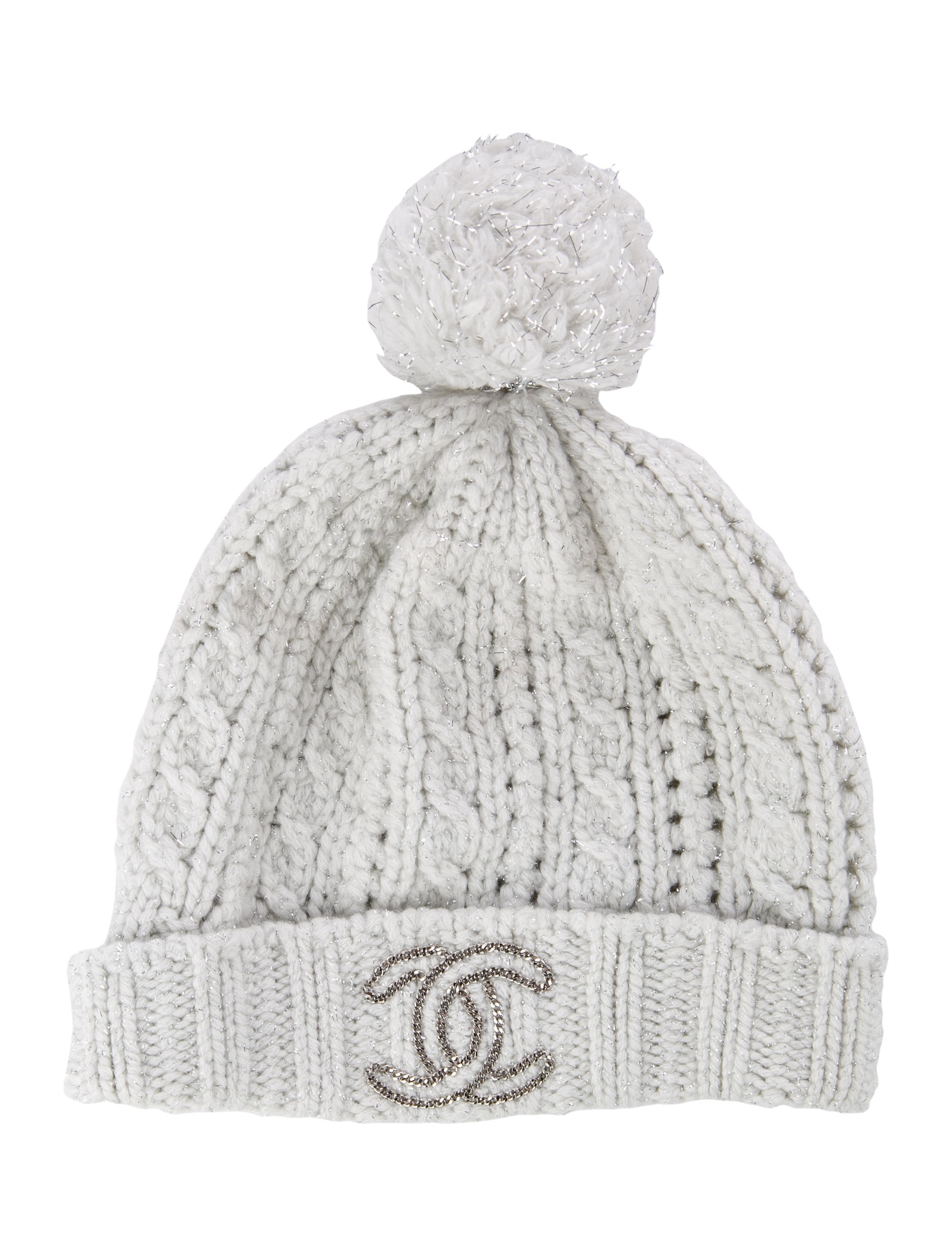 Chanel Embellished Knit Hat - Accessories - CHA226520  06506e8fa7a