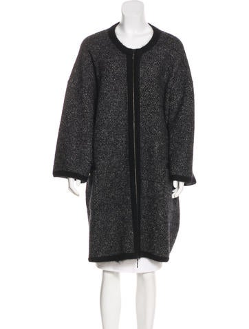 Chanel Longline Zip-Up Cardigan None