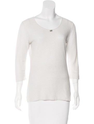 Chanel Linen-Blend Top None