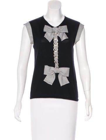 Chanel Cashmere & Silk Top None