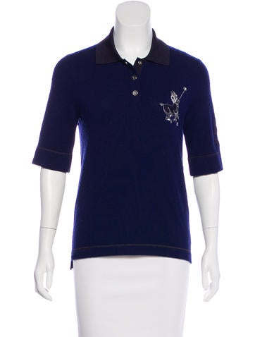 Chanel Cashmere Embroidered Top None