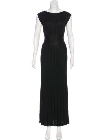 Chanel Rib Knit Evening Dress None