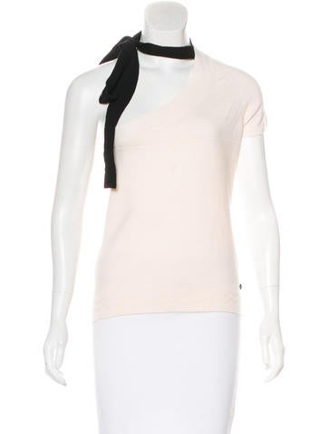 Chanel Wool One-Shoulder Top None