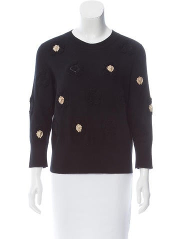 Chanel 2017 Embellished Cashmere Sweater None