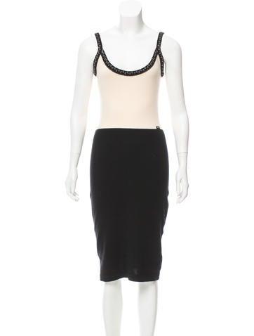 Chanel Sleeveless Cashmere Dress None
