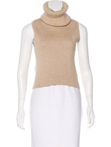 Chanel Wool Turtleneck Top None