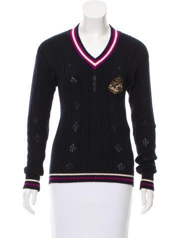 Chanel Paris-Bombay Embellished Cashmere Sweater None