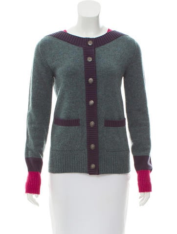 Chanel Button-Up Cashmere Cardigan None