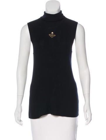 Chanel Paris-Byzance Cashmere Top None