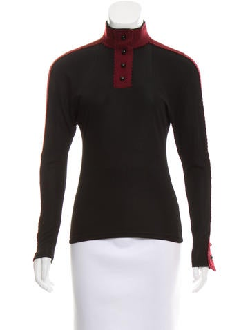 Chanel Silk-Blend Tweed-Paneled Top None