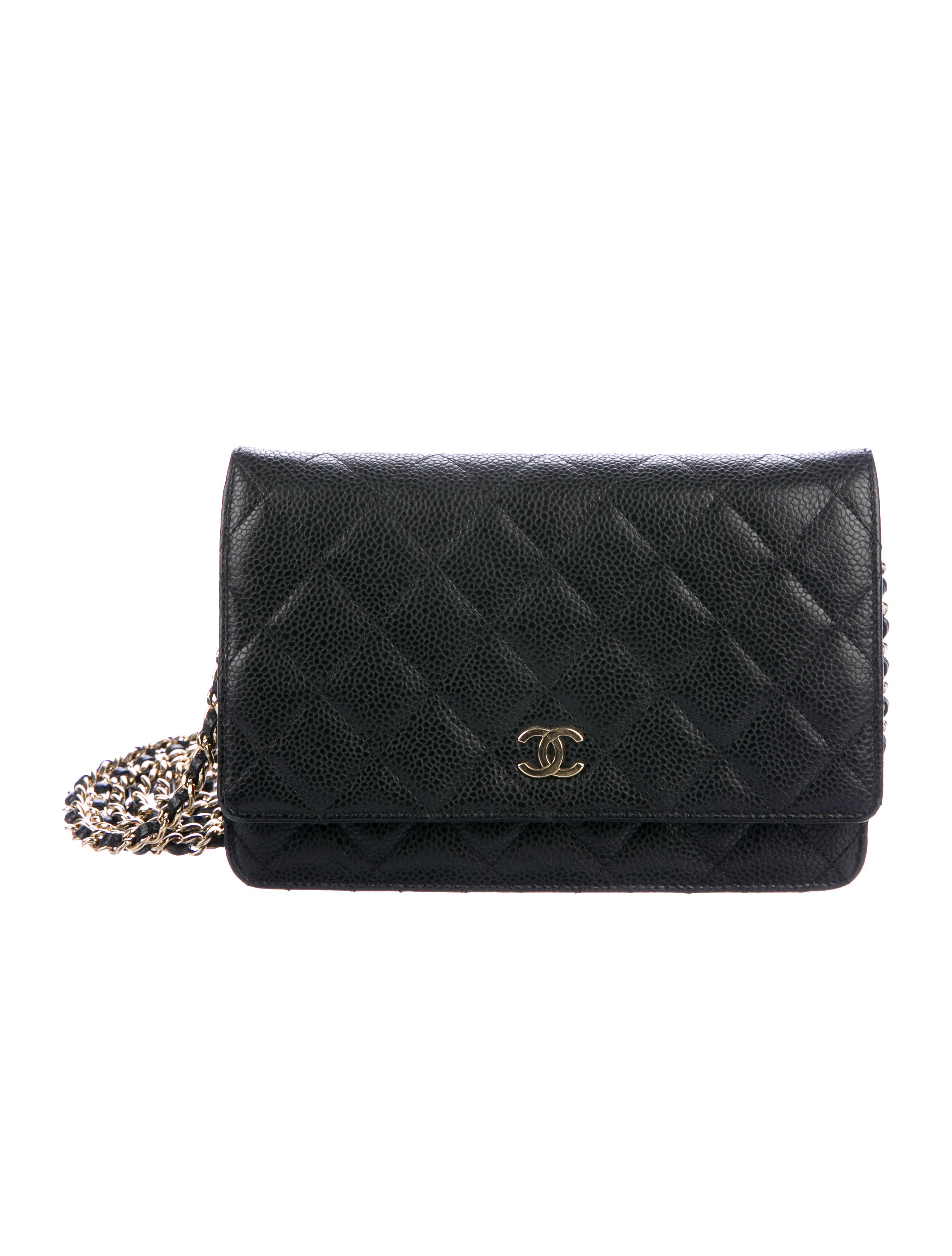 Chanel Caviar Quilted Wallet On Chain Handbags