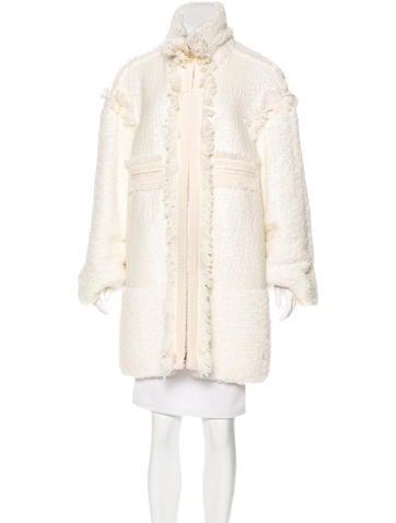 Chanel Fringe Knit Coat None