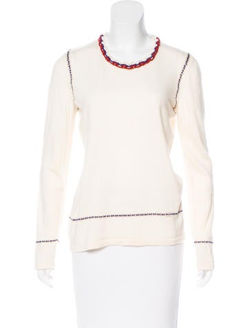 Chanel Knit Cashmere Top None