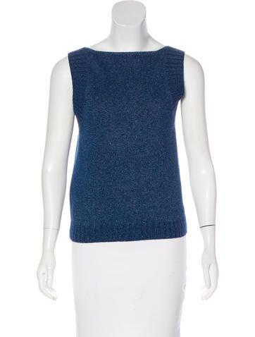Chanel Sleeveless Knit Sweater None