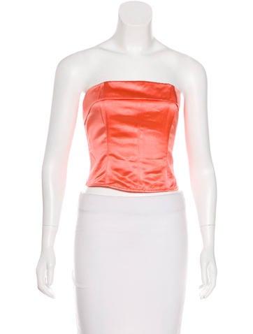 Chanel Silk Bustier Top None