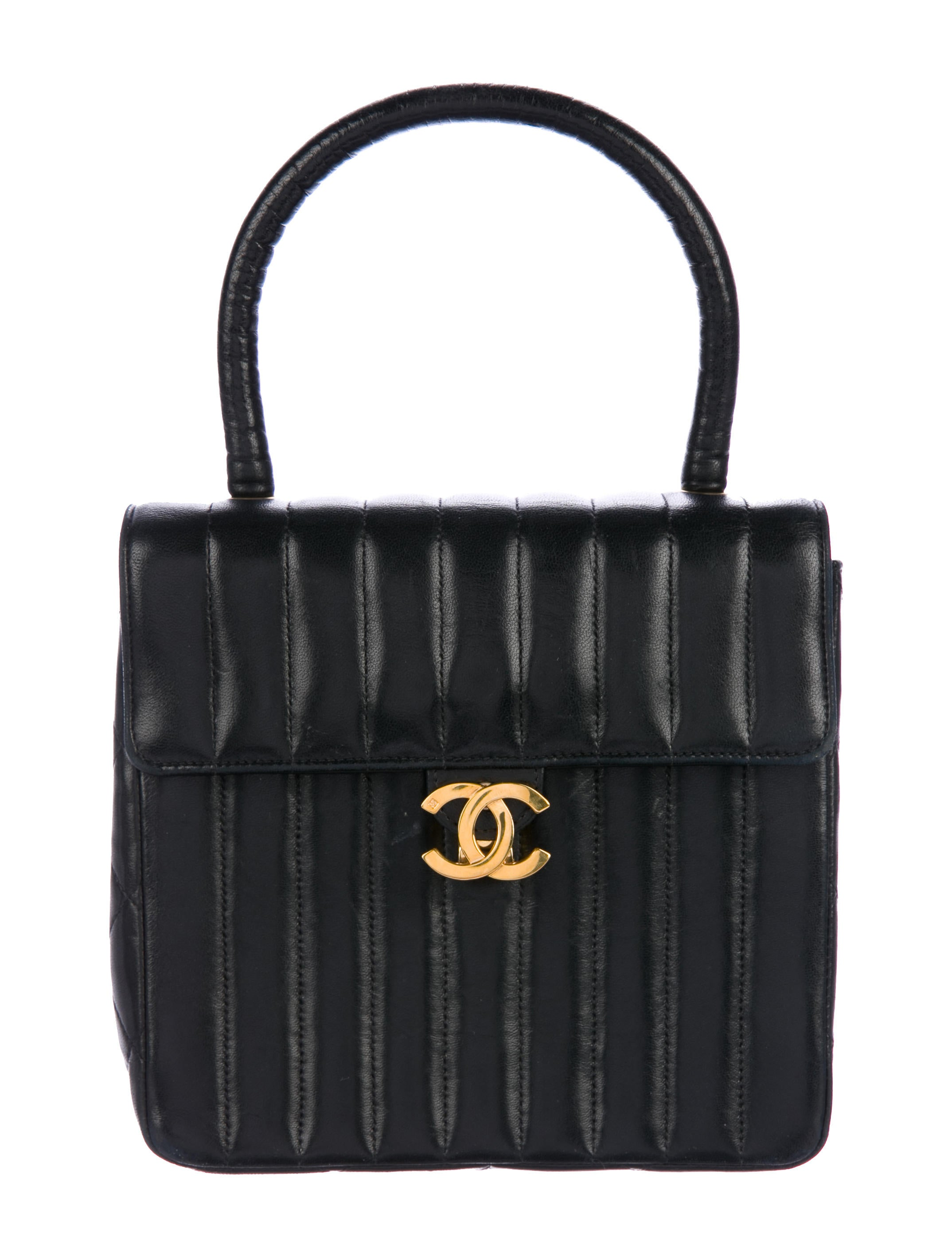 9b8a835d228e Chanel Vintage Lambskin Vertical Quilted Kelly Bag - Handbags ...