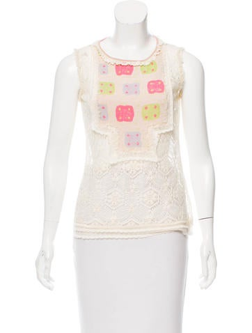 Chanel Crocheted Wool Top None