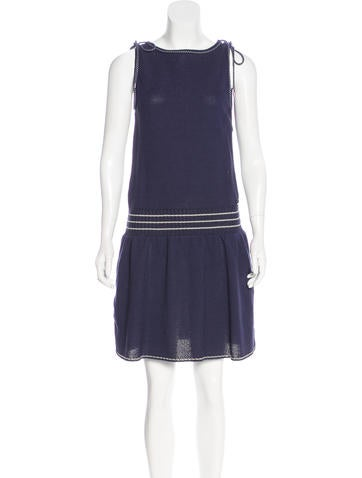 Chanel Sleeveless Knit Dress w/ Tags None