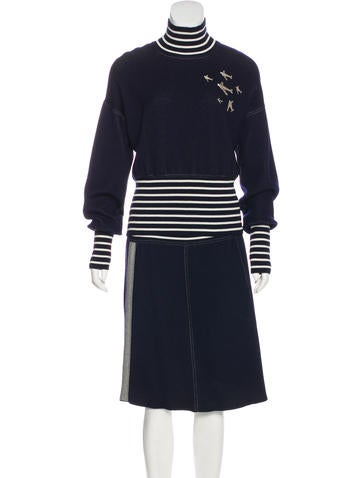 Chanel Cashmere-Blend Skirt Set None
