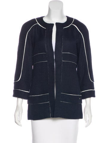 Chanel Silk-Blend Jacket None