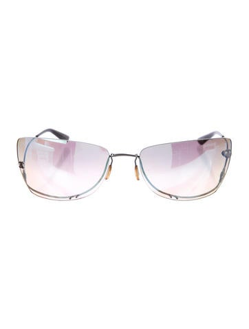 Chanel Mirrored Rimless Sunglasses None