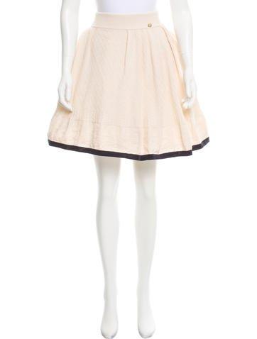 Chanel Knee-Length Knit Skirt None