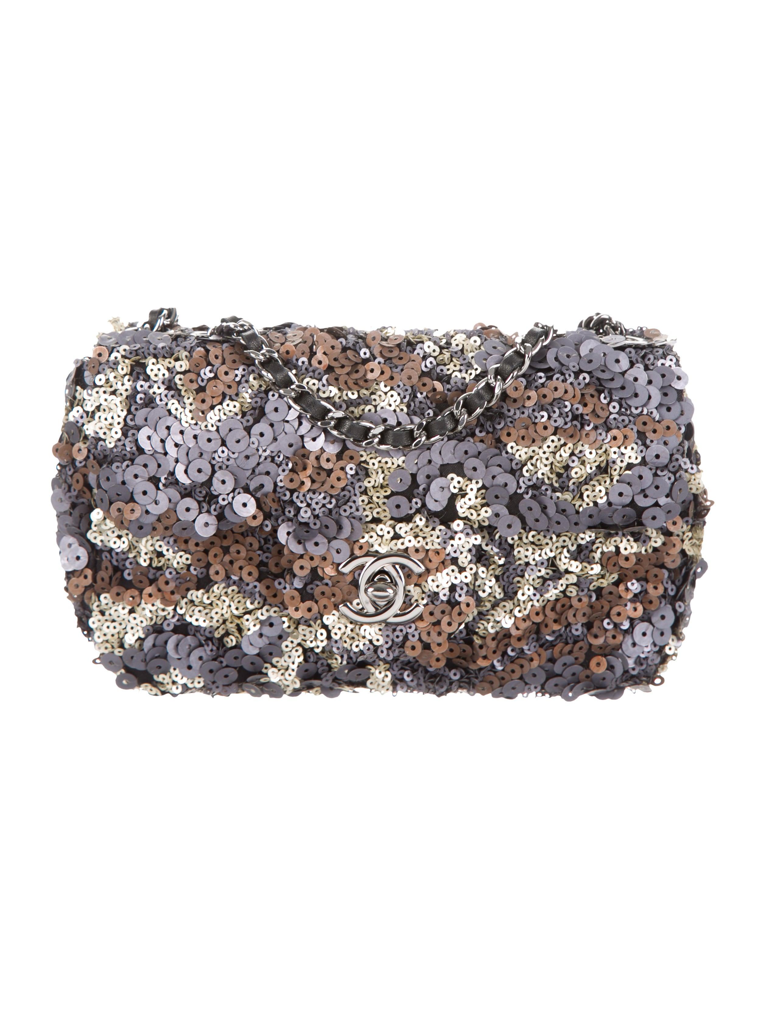 chanel sequin classic mini flap bag handbags cha232914