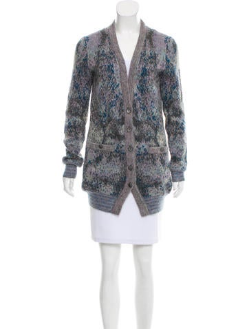 Chanel Mohair-Blend Cardigan None