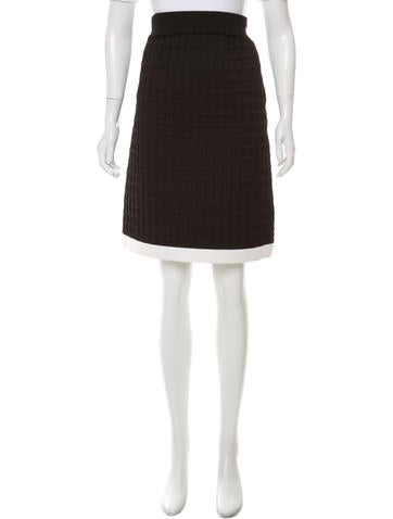 Chanel Structured Matelassé Skirt w/ Tags None