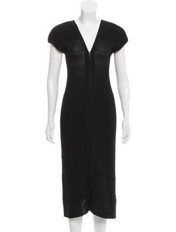 Chanel Ribbed Midi Dress None
