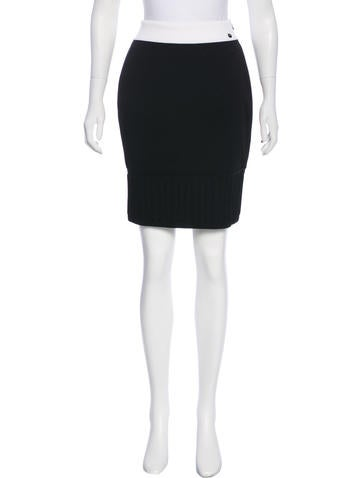Chanel Knit Pencil Skirt None