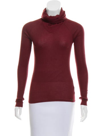 Chanel Ribbed Cashmere Sweater None