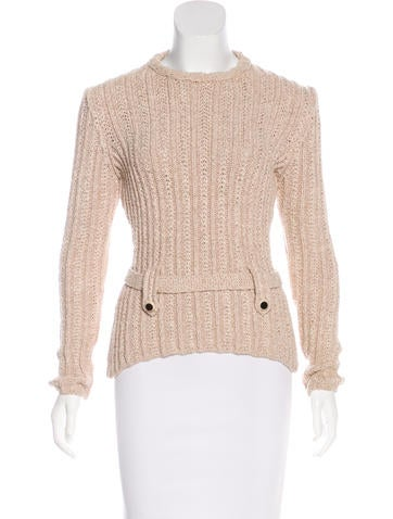 Chanel Belted Sweater None