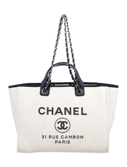 1b95ea81169b Chanel 2017 Raffia Large Deauville Tote - Handbags - CHA236957 | The ...