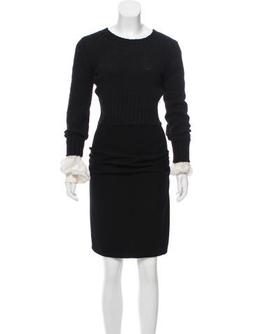 Chanel Cashmere & Wool Dress None