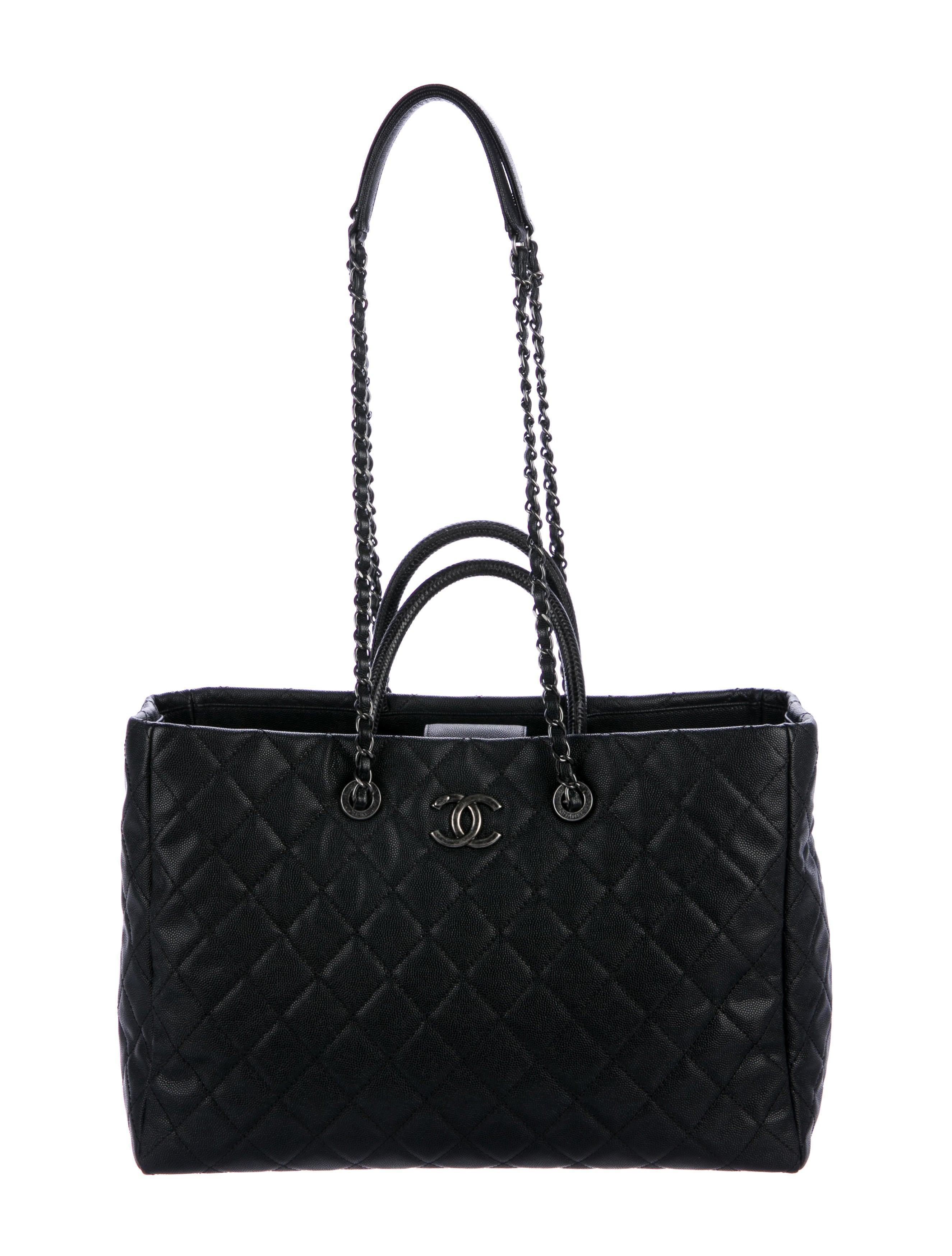 8f5bbcd8d08d Chanel 2017 Lizard-Trimmed Coco Handle Tote - Handbags - CHA239041 ...