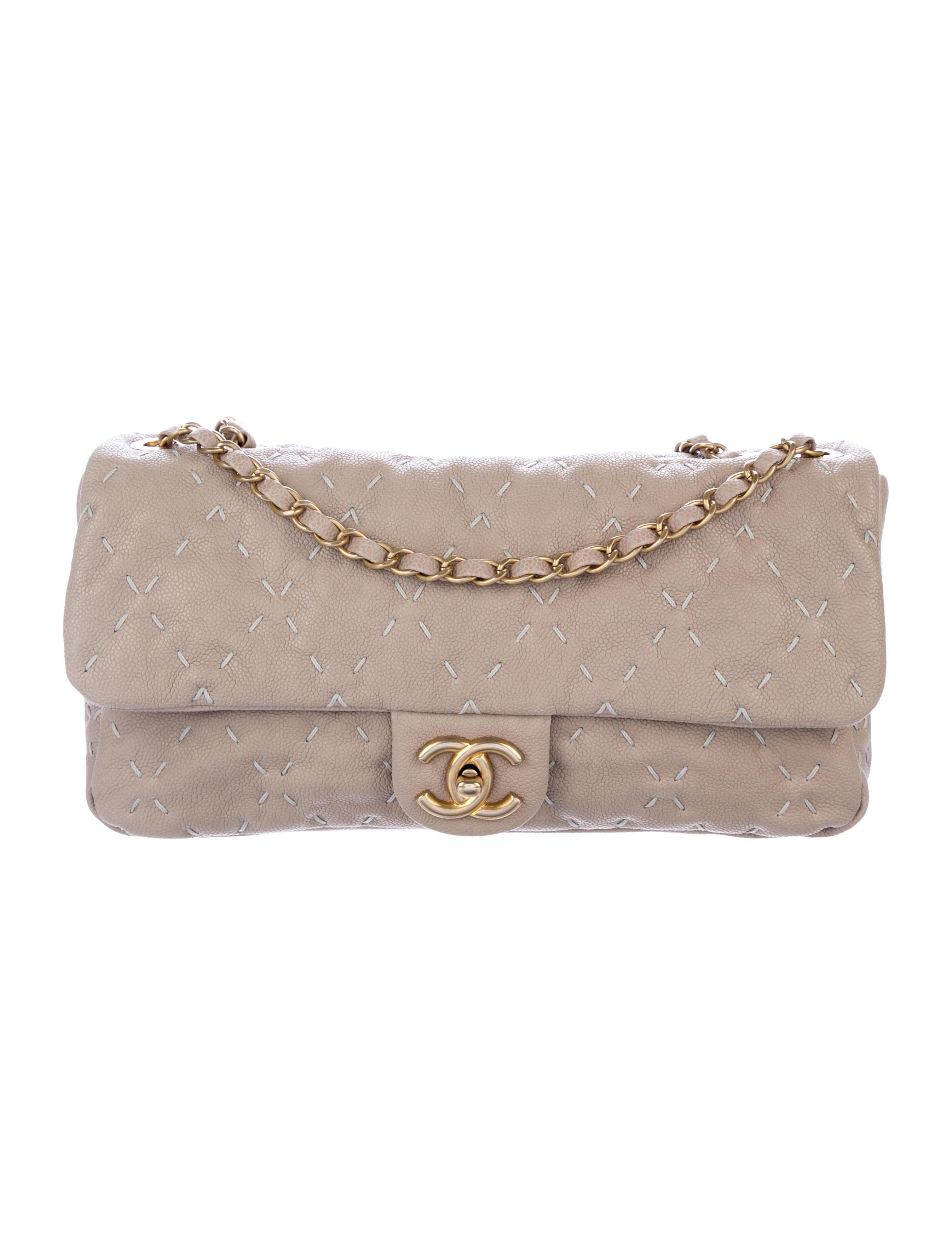 9246cf16f98d Chanel Caviar Wild Stitch Flap Bag - Handbags - CHA239653 | The RealReal