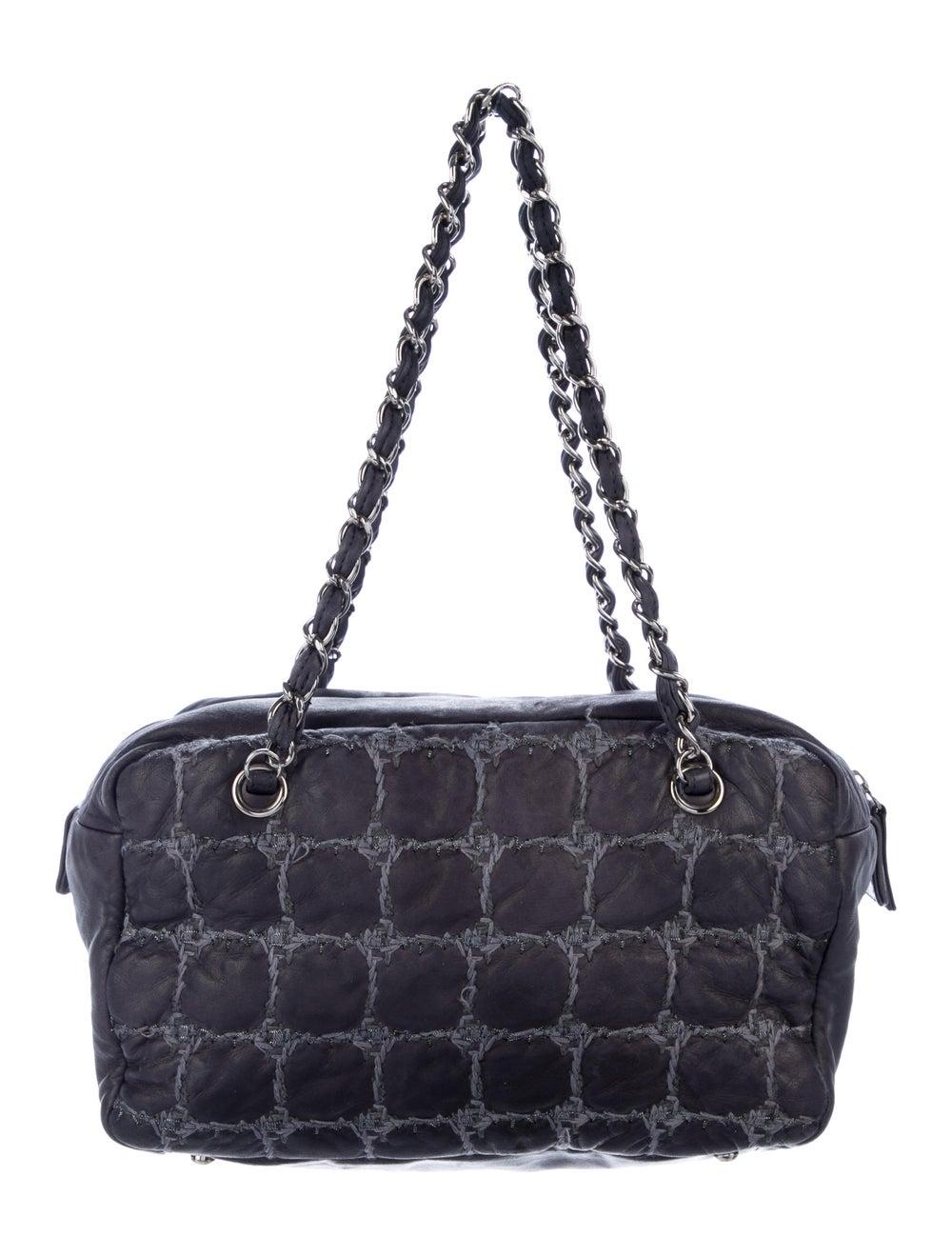 Chanel Tweed Stitch Bowler Bag Blue - image 3