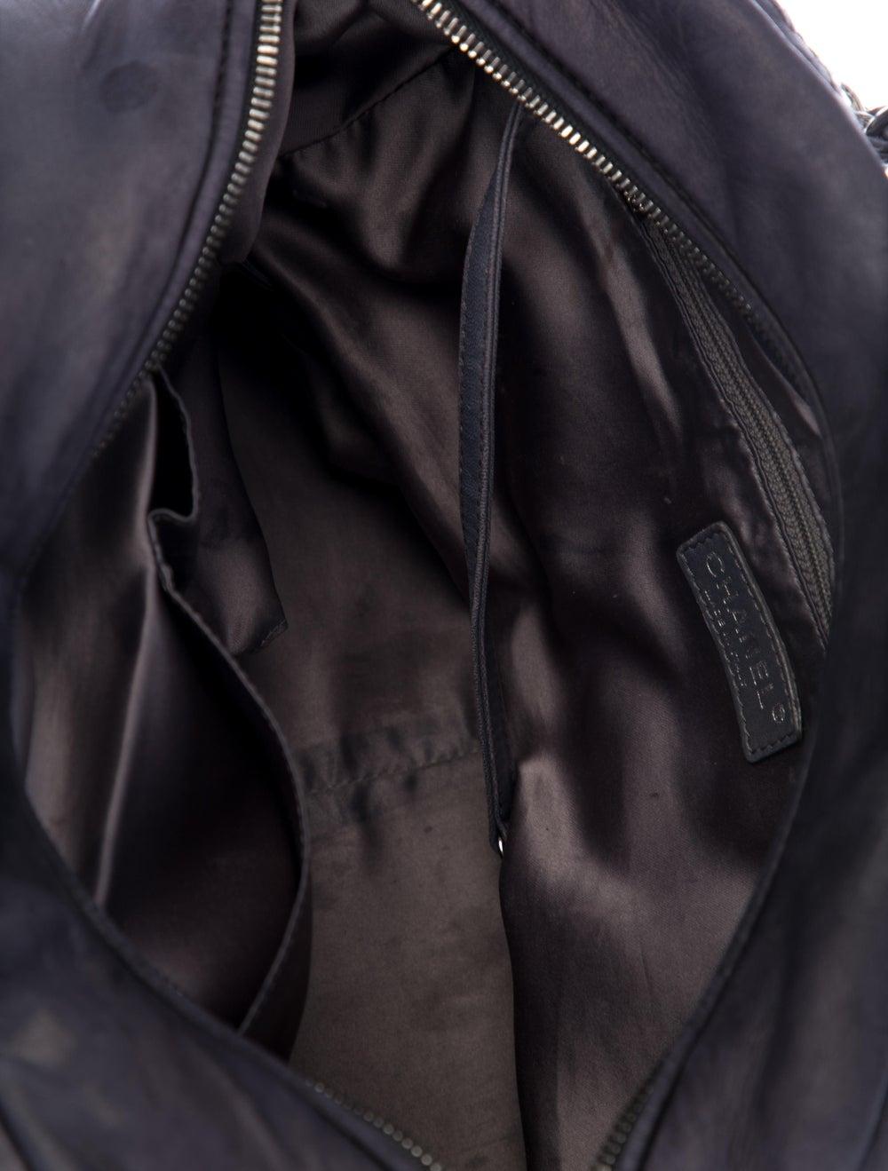 Chanel Tweed Stitch Bowler Bag Blue - image 4