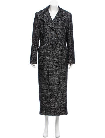 Chanel Tweed Double-Breasted Coat None
