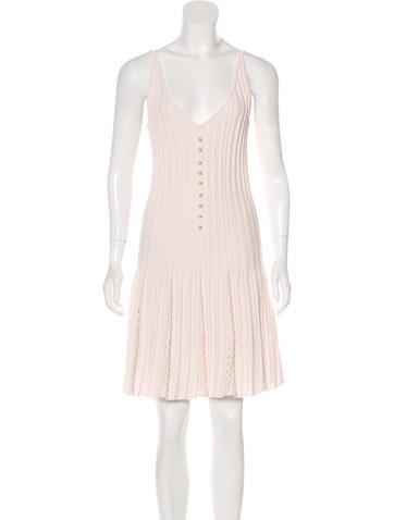 Chanel Pleated Midi Dress None