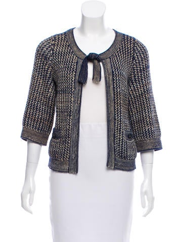 Chanel Silk-Blend Cardigan None