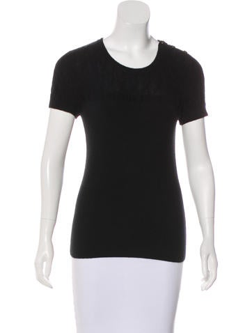 Chanel Cashmere Rib Knit Top None