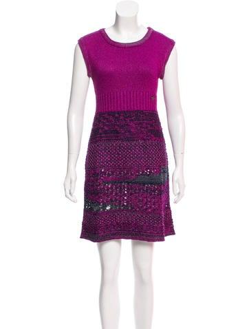 Chanel Knit A-Line Dress None