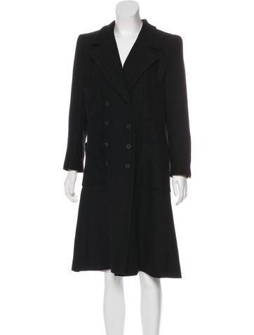 Chanel Metallic Tweed Coat None