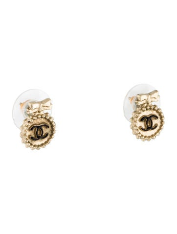 CC Logo Stud Earrings