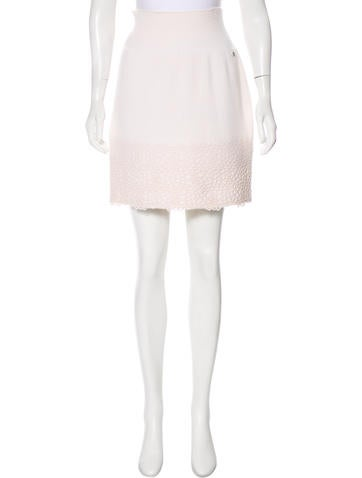 Chanel Cashmere Mini Skirt None