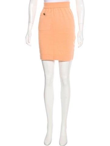 Chanel Vintage Cashmere Skirt None