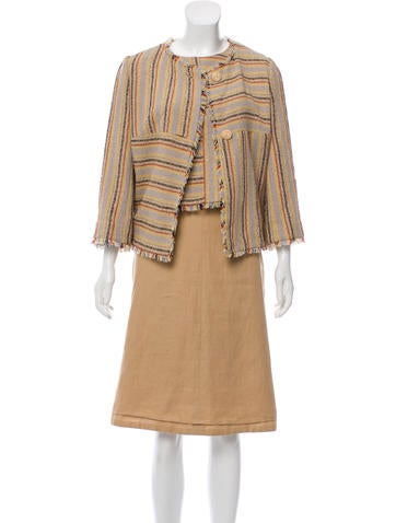 Chanel Wool Three-Piece Skirt Suit None