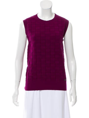 Chanel Patterned Cashmere Top None